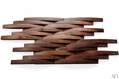 Ann Sacks gives traditional wood paneling a dynamic twist with its Network collection of interlocking tiles.