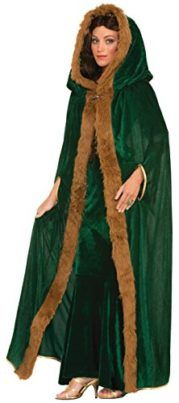 Forum Novelties Womens Medieval Fantasy Faux Fur Trimmed Cape Tag someone who can pull this off! #Fantasy #Halloween #Costume