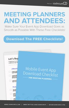 Make Sure Your Mobile Event App Download Goes Smoothly... Download This Free Worksheet for Attendees and Meeting Planners! #eventprofs #meetingplanner #eventapp #conference