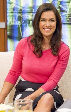 GMB: The mother-of-two, who split from the father of her two children Dominic Cotton in has been credited with boosting breakfast ratings for ITV Susana Reid, Sexy Older Women, Sexy Women, Anna Richardson, Fiona Bruce, Kate Garraway, Tv Presenters, Chic, Lady In Red