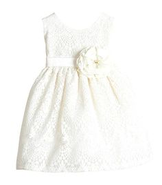 0733b11c9b3 Baby Girls  Sweet Vintage Lace Country Style Flower Girl Dress - Off-White -