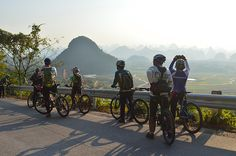Cycling in Guilin area
