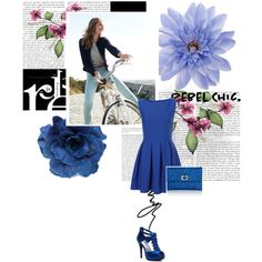 Blue Blizzard, created by #scarlettohara123 on #polyvore. #fashion #style Anya Hindmarch #Monsoon