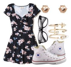 """""""Untitled #242"""" by meggypoo03 ❤ liked on Polyvore featuring Hollister Co., Converse, Andrea Fohrman and River Island"""