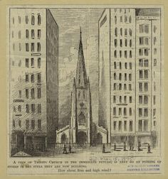 Trinity Church Cartoon, Harper's Weekly, 1875