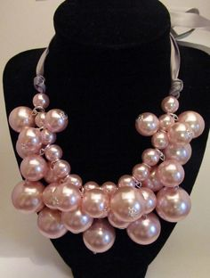 Beautiful Cluster Pearl Necklaces in 3 Colors - Perfect for Holiday Parties! | Very Jane