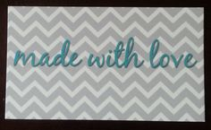 made with love enclosure cards by kconnerdesigns on Etsy 25 cards for $8