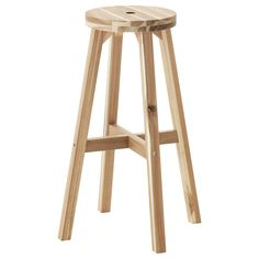 Bar stool SKOGSTA IKEA Solid wood is a durable natural material that can be sanded and surface treated if necessary.