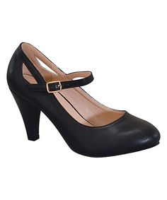 Look what I found on #zulily! Black Tiangle-Cutout Kimmy Pump #zulilyfinds