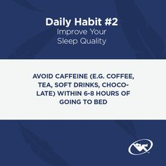 Daily habits to improve your sleep tip #2