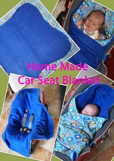 Homemade reversible fleece car seat blanket