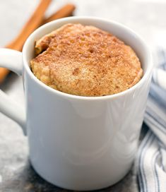 Low Carb Snickerdoodle Mug Cake. This easy cinnamon microwave mug cake tastes like a snickerdoodle cookie in cake form. It's low carb, gluten free and keto friendly.