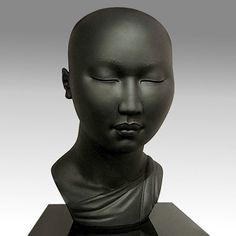 """Love this clay sculpture """"Soft Meditation"""" by Scarlett Kanistanaux"""