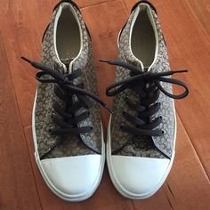 Coach Sneakers worn once so they are in great condition! Make an offer and ask questions! (:         Tags: Urban Outfitters, Free People, Brandy Melville, Forever 21, John Galt, Hollister, PacSun, Abercrombie Fitch, Tilly's, Zara, American Apparel, American Eagle Outfitters, Wet Seal, H&M, Cotton On, Nike, Adidas, Gucci, Coach, Prada Coach Shoes Sneakers
