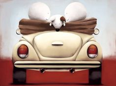 Click < > For Framed Example: Doug Hyde - Sunday Driver Cute Images, Cute Illustration, Hyde, Painting Inspiration, Home Art, Art Pieces, Art Gallery, Arts And Crafts, My Arts