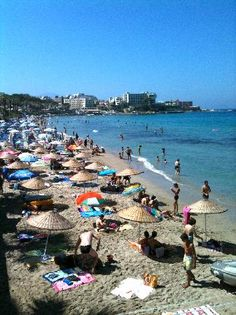 Ladies Beach. Kusadasi, Turkey Shallow beach, great for kids. Very warm and clean waters! The beach was not the cleanest though.