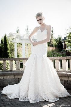http://www.weddinginspirasi.com/2014/08/13/sarah-houston-spring-2015-wedding-dresses/ Sarah Houston 2015 #bridal collection: Octavia strapless sweetheart mermaid #wedding dress #weddingGown #weddingDress