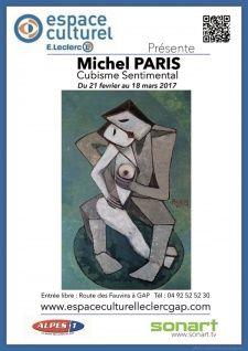 Exposition de Michel PARIS - Cubisme Sentimental - Galerie d'art Leclerc Gap | Map | ((sonart)) le portail artistique, culturel & événementiel