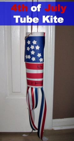 A 4th of July tube kite is a great accessory for your holiday.  Use it at a parade or hang it on your mailbox.
