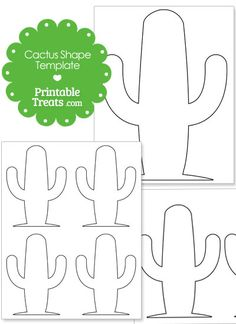 Large Rounded Cactus Shape from PrintableTreats.com