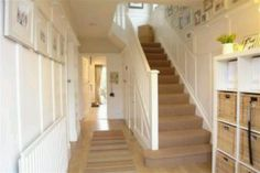 Hallway - panelling on stairs