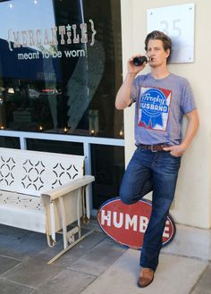 Our best-selling Trophy Husband tee for men is back in stock on www.shopmerc.com!