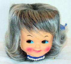 Retro Vintage Girl Head Tissue Holder