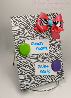 DIY Memo Board - A Little Craft In Your Day... I don't need another memo board.. but I do want bottle cap magnets!