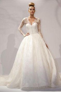 Abito da sposa // #Wedding dress by biancanevesposa via it.dawanda.com