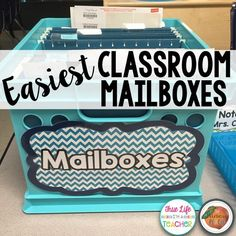 Easiest Classroom Mailboxes Ever   The Primary Peach   Bloglovin'