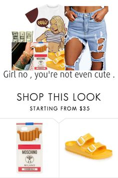 """""""untitled #197"""" by yani122 ❤ liked on Polyvore featuring Moschino and Birkenstock"""