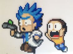 ~Rick and Morty~ Perler Bead Art