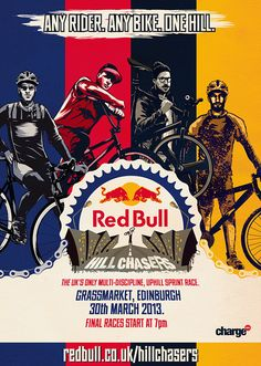Charge Presents the Red Bull Hill Chasers - PROLLY IS NOT PROBABLY #poster #bike #race