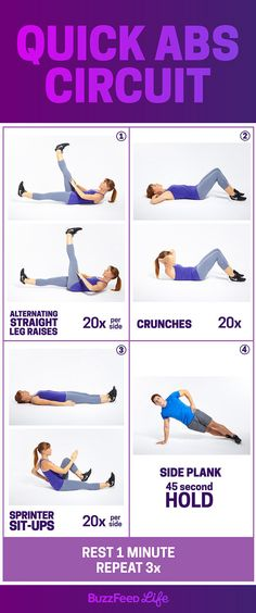 Wednesday Workout: Quick Abs Circuit | Take BuzzFeed's Get Fit Challenge, Feel Like A Total Boss