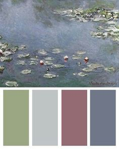 Monet color pallette