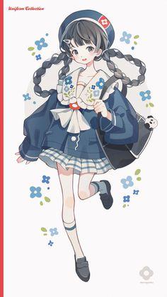 Anime Chibi, Manga Anime, Kawaii Chibi, Cute Chibi, Kawaii Art, Anime Girl Cute, Kawaii Anime Girl, Anime Art Girl, Anime Angel
