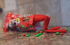 Indulge his sweet tooth. #elfontheshelf #eots