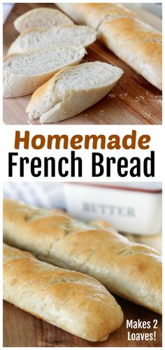This amazing french bread recipe yields 2 loaves of soft and chewy bread. Perfect to serve with dinner or to use for sandwiches! Bread Maker French Bread Recipe, French Bread Loaf, Homemade French Bread, Bread Maker Recipes, Best Bread Recipe, Loaf Recipes, Easy Bread Recipes, Tortilla Recipes, Muffin Recipes