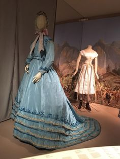 "Ca.1866 silk day dress. ""Fashion Forward"" exhibit, Musee de Arts Decoratifs. Photo by Charity Calvin Armstead via Facebook."