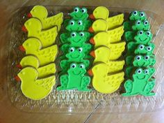 duck and frog baby shower cakes - Google Search
