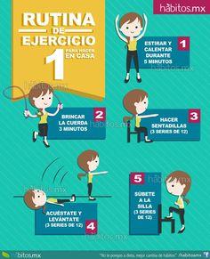 Hábitos Health Coaching | Rutina de ejercicio para hacer en casa … ya no tienes pretextos…