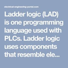 This video shows practice work with plc trainer device and plc ladder logic lad is one programming language used with plcs ladder logic uses ccuart Image collections
