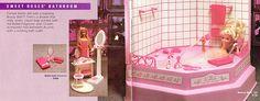 Barbie Sweet Roses Bathroom Play Set Furniture