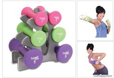 Fitness Dumbbell Set With Rack Workout Strength Training Equipment Gym Exercise #ToneFitness