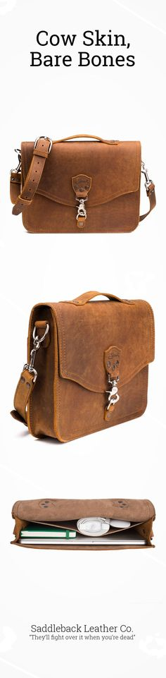 The new Laptop Bag fits just what you need if all you need is a laptop. It's also light as a feather that has a leather bag wrapped around it. Come take a look!