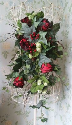 Cascading Autumn Winter Christmas Bouquet. Flowers play an important part in any wedding, I work with a new generation of artificial flowers called 'real touch', they not only look real but also feel real. | eBay!
