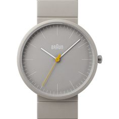 Braun Braun BN 0171 GYGYG Grey Watch (16,680 PHP) ❤ liked on Polyvore featuring jewelry, watches, grey watches, braun, gray jewelry, braun wrist watch and braun watches