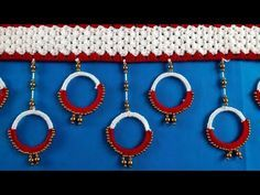 Diwali Diy, Diwali Craft, Door Hanging Decorations, Reuse Recycle, Diy Door, Craft Items, Beaded Embroidery, Easy Crafts, Projects To Try