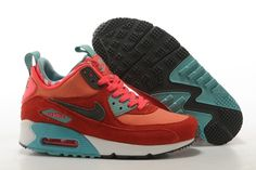 outlet store 46329 26483 femme air max 90 mid rouge et vert soldes,air max 90 femme,nike air 90 pas  cher