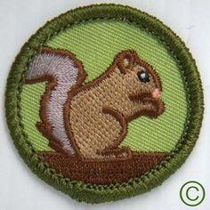 Squirrel merit badge via demeritwear.com!